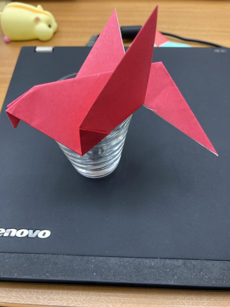 折り紙の小鳥