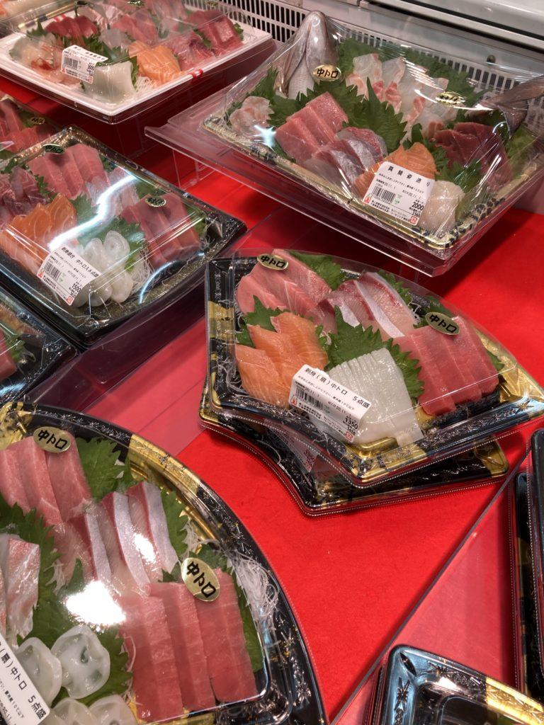 お寿司、刺身、角上魚類