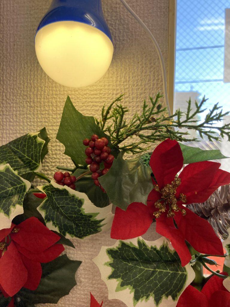 クリスマス飾り、ちょっとだけ。100円ショップで。