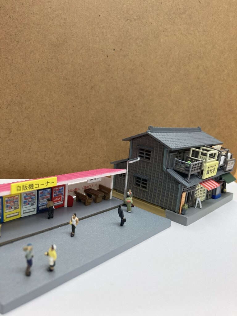 ジオラマ 昭和っぽい商店